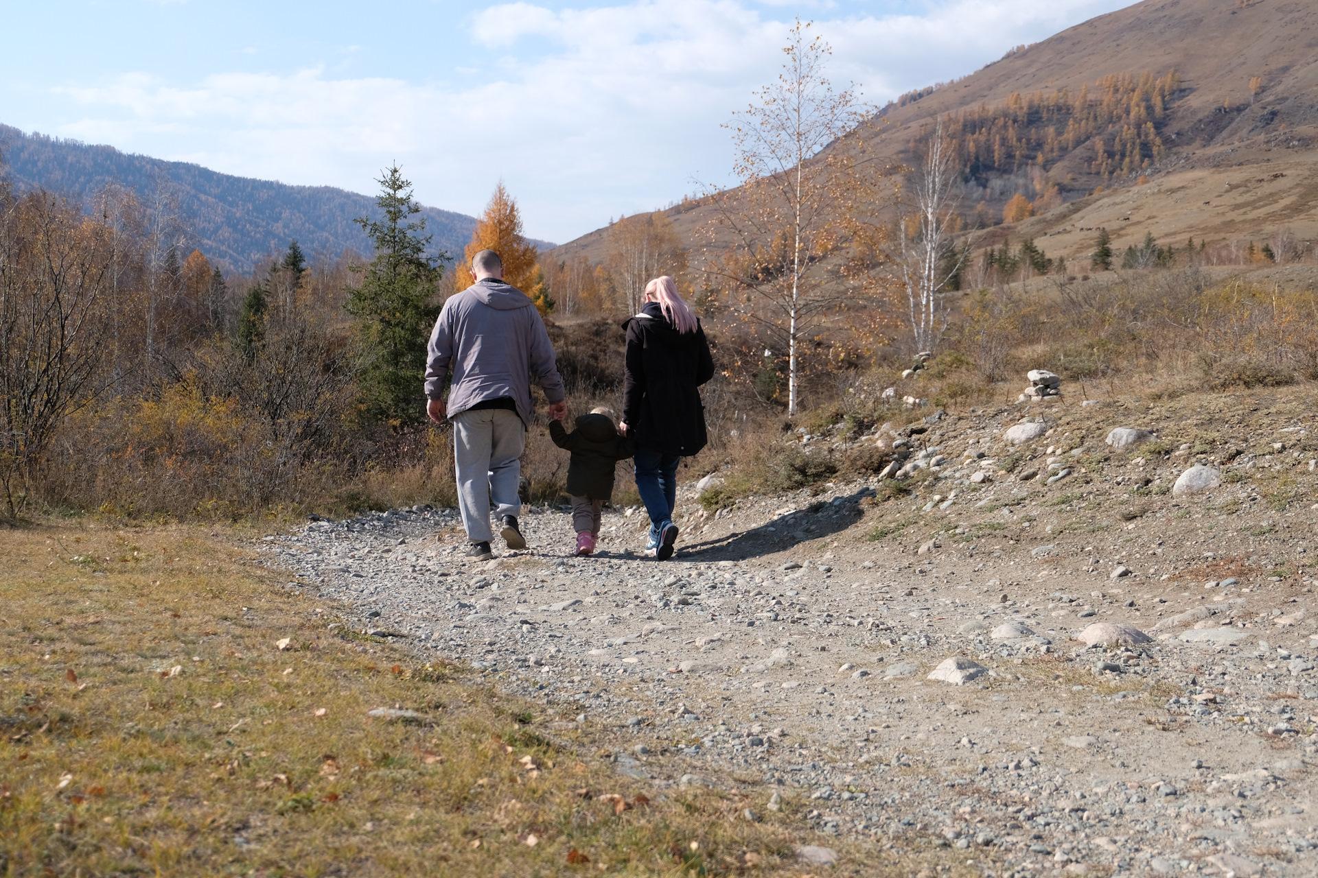фото усть коксы осень советском