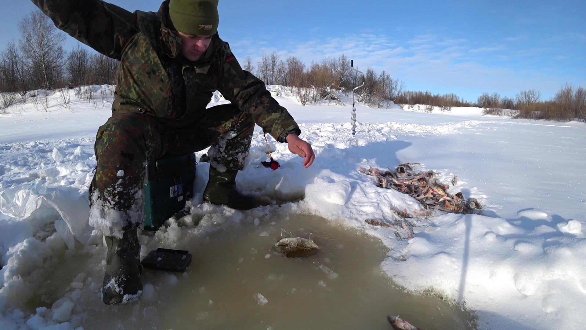 Ловля зимой в коми